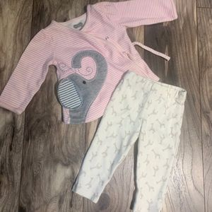 0-6 months Mud Pie outfit